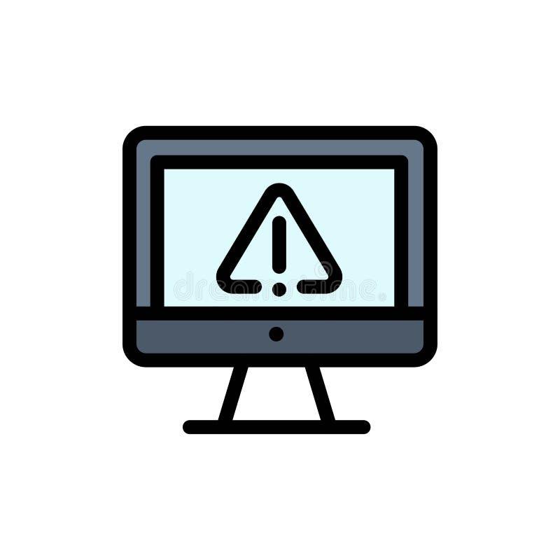 计算机,数据,信息,互联网,安全平的颜色象 传染媒介象横幅模板 向量例证