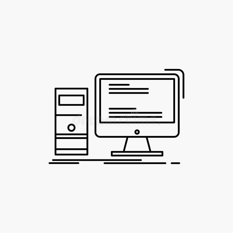 计算机,桌面,赌博,个人计算机,个人线象 r 库存例证