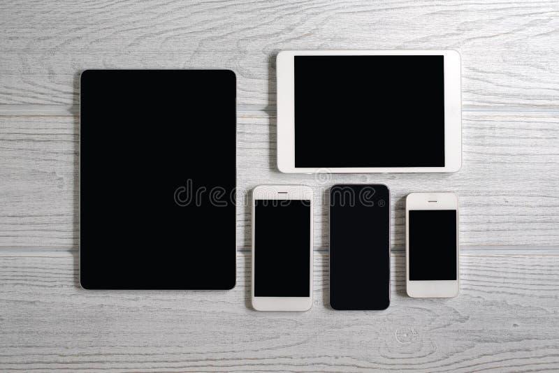 计算机移动电话片剂 库存照片