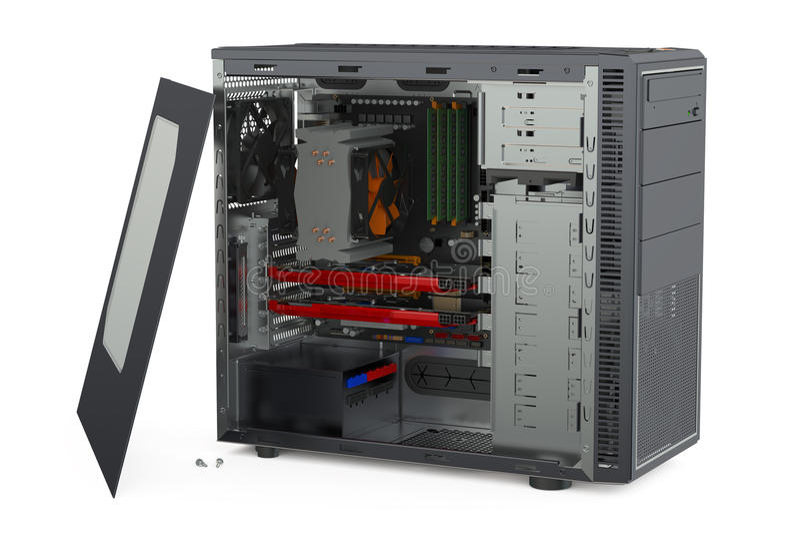 计算机系统单位 向量例证