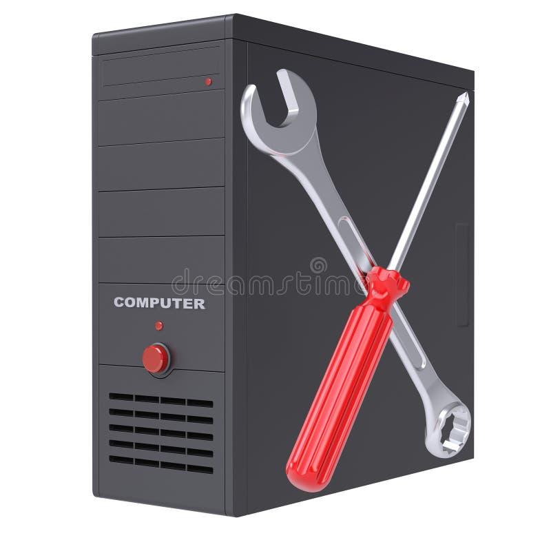 计算机系统和工具 免版税库存图片