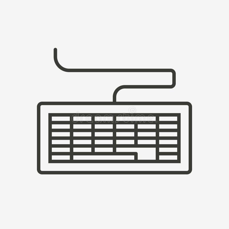 计算机系统键盘象  皇族释放例证