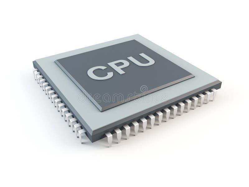 计算机cpu 库存例证