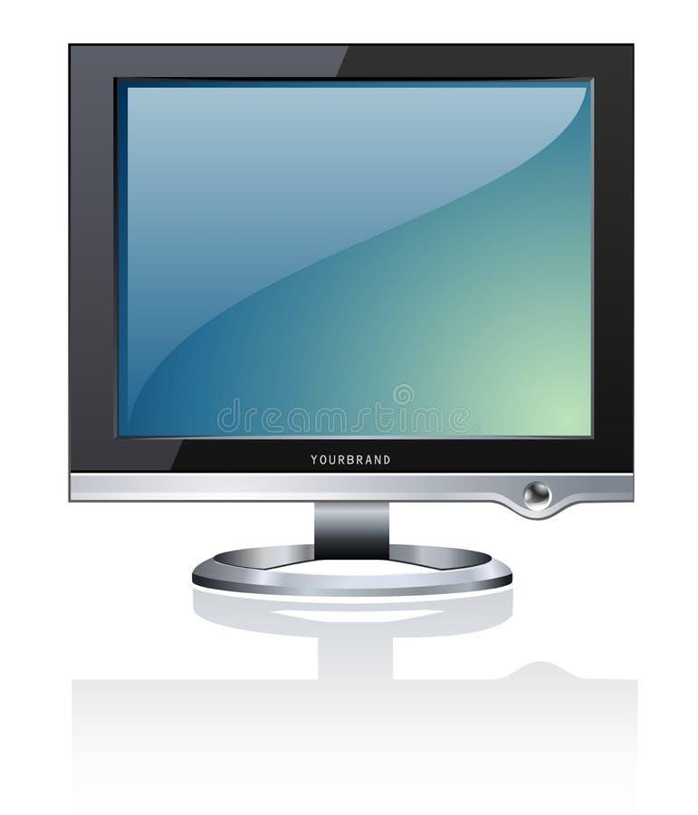 计算机lcd监控程序 向量例证