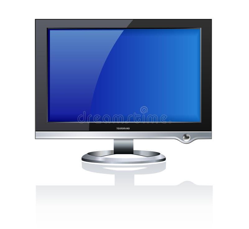 计算机lcd监控程序 库存例证