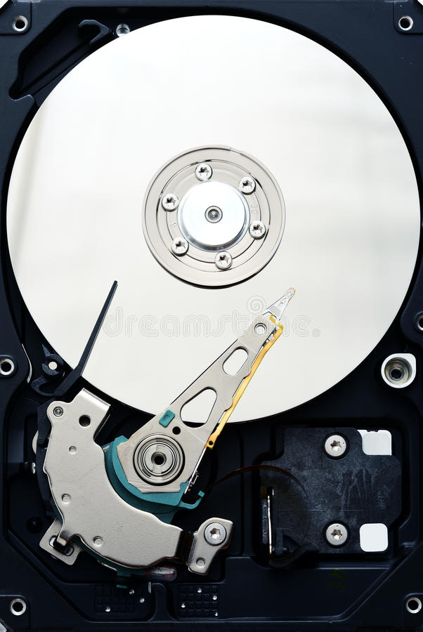 计算机sata硬盘驱动器internals关闭  库存照片