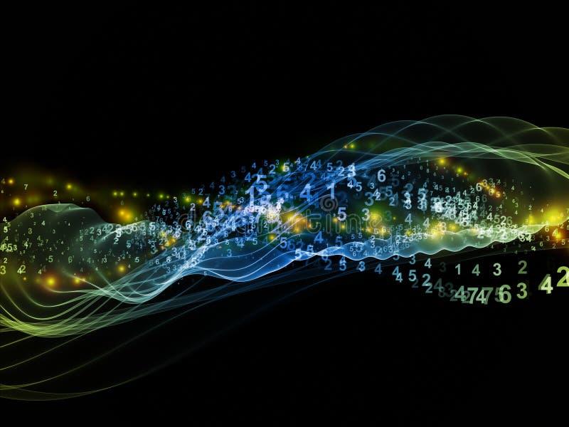 计算正弦波 库存例证