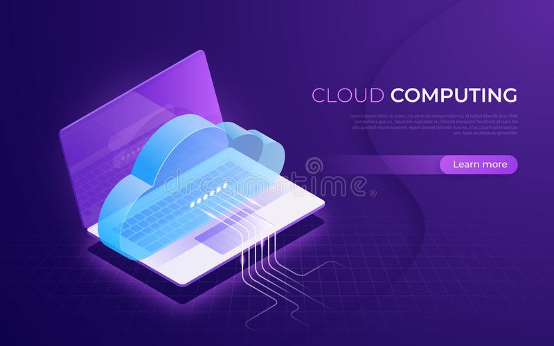 计算的云彩,存贮,服务,数据网等量概念 皇族释放例证