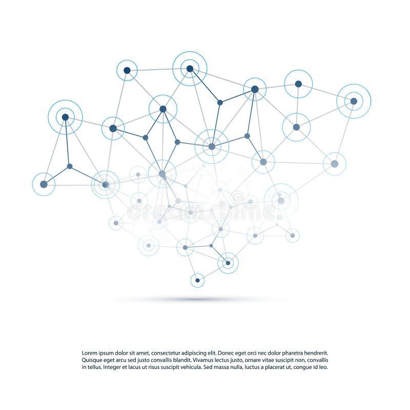 计算的云彩,网络结构,电信构思设计,全世界网络连接 库存例证