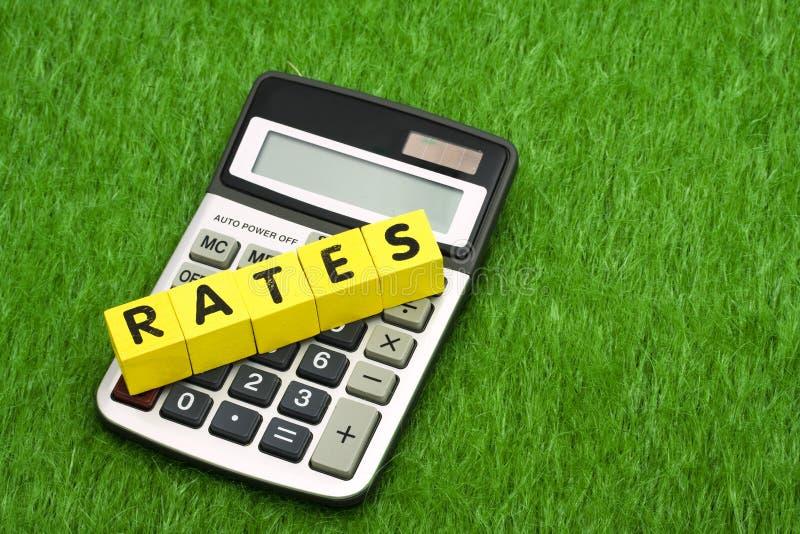 计算的利率 免版税库存照片