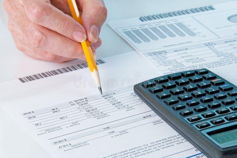 计算的收益损失市场股票 免版税库存图片