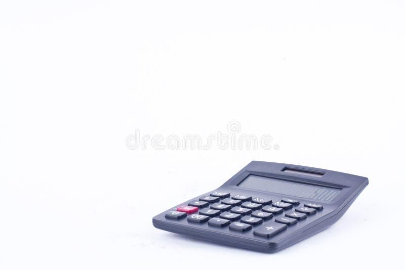 计算的数字认为的会计事务计算器在白色背景财务 库存图片