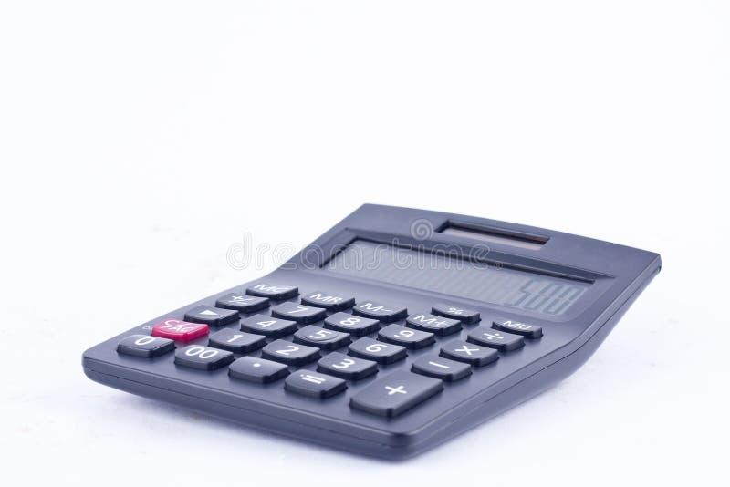 计算的数字认为的会计事务计算器在白色背景财务 免版税图库摄影