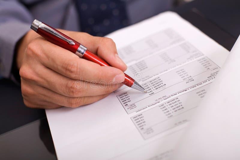 计算的税务 免版税图库摄影