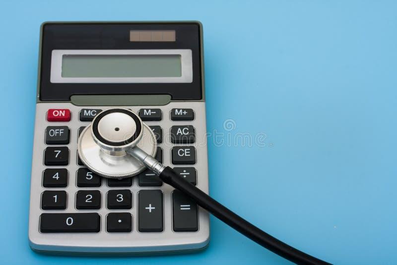 计算的费用医疗保健 免版税图库摄影