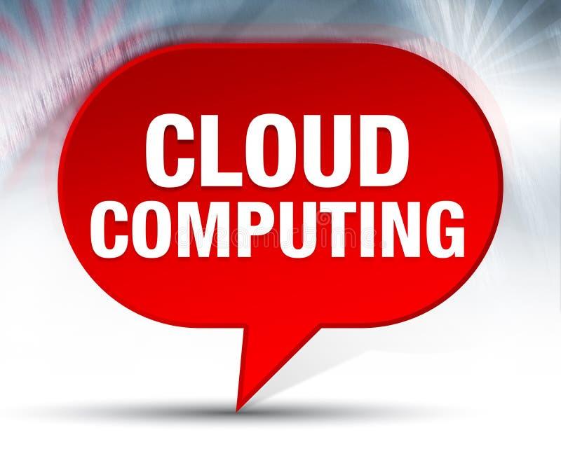 计算红色泡影背景的云彩 向量例证