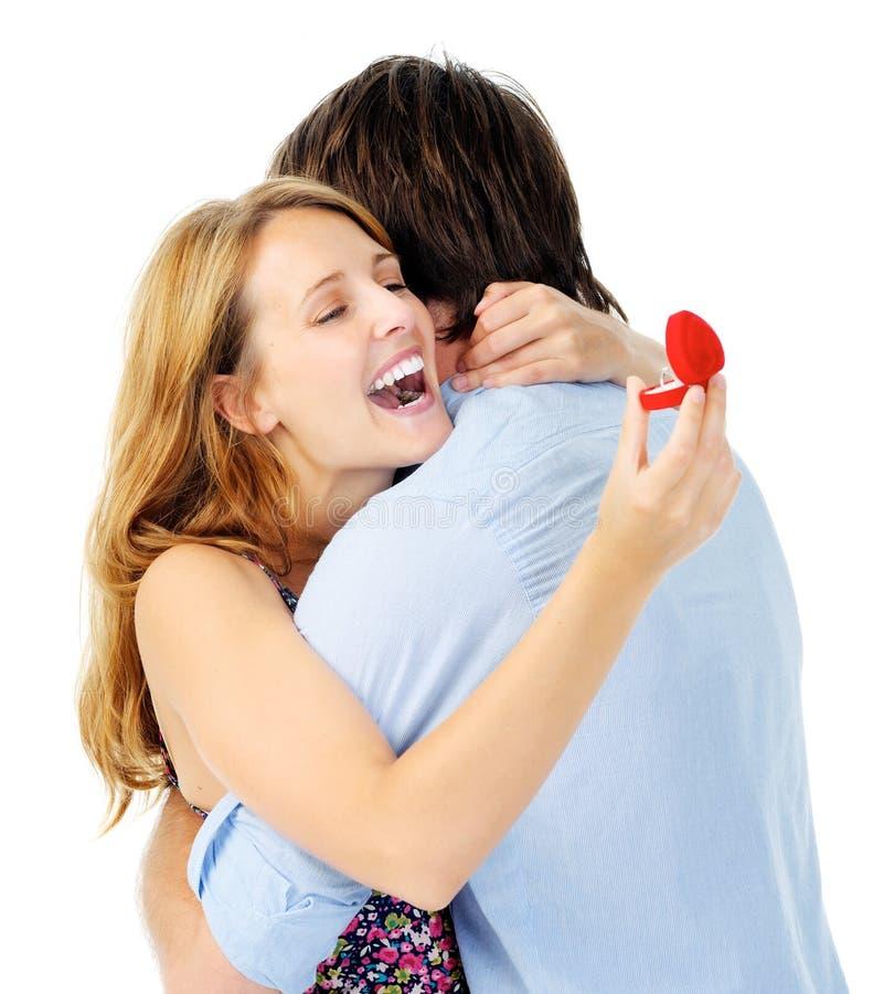 订婚幸福 免版税库存照片