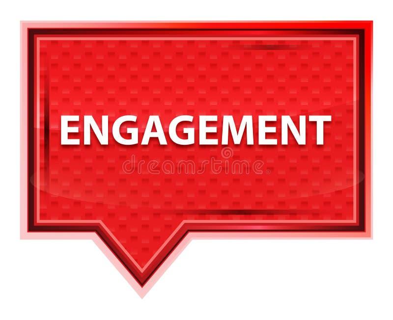 订婚有薄雾的淡粉红色横幅按钮 皇族释放例证