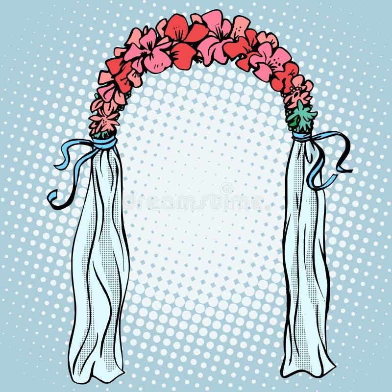 订婚的婚礼门 库存例证
