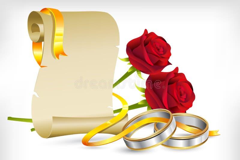 订婚邀请 库存例证