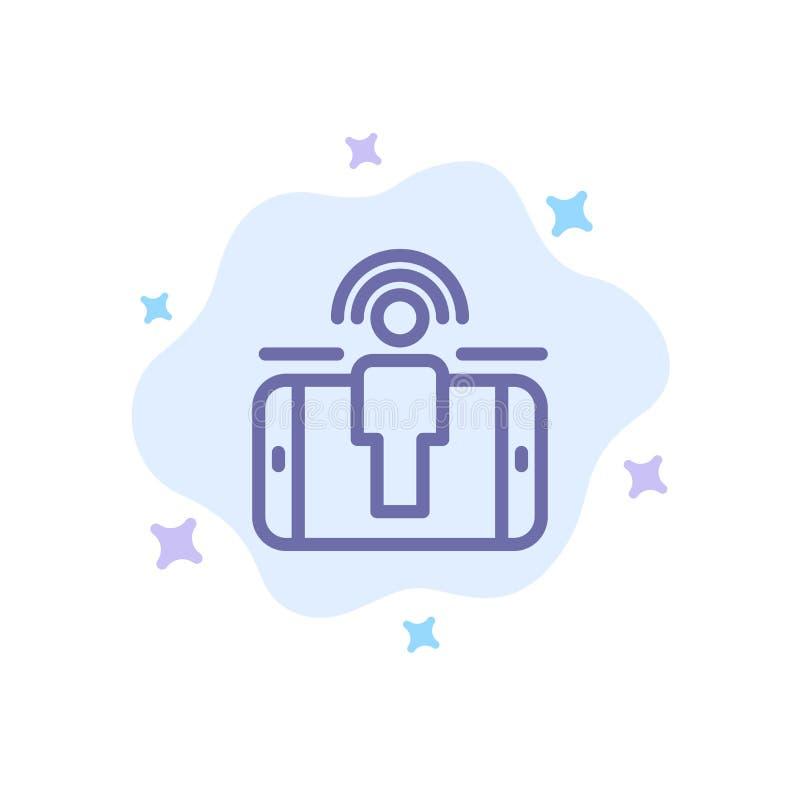 订婚,用户,用户订婚,在抽象云彩背景的销售的蓝色象 皇族释放例证