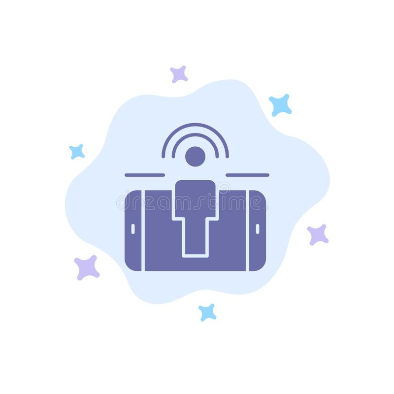 订婚,用户,用户订婚,在抽象云彩背景的销售的蓝色象 库存例证