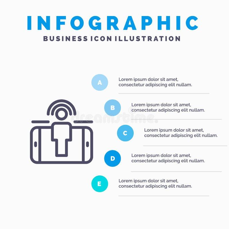 订婚,用户,用户订婚,销售的线象有5步介绍infographics背景 向量例证