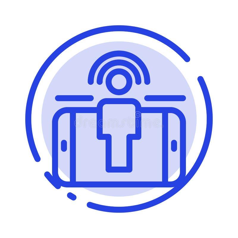 订婚,用户,用户订婚,销售的蓝色虚线线象 库存例证