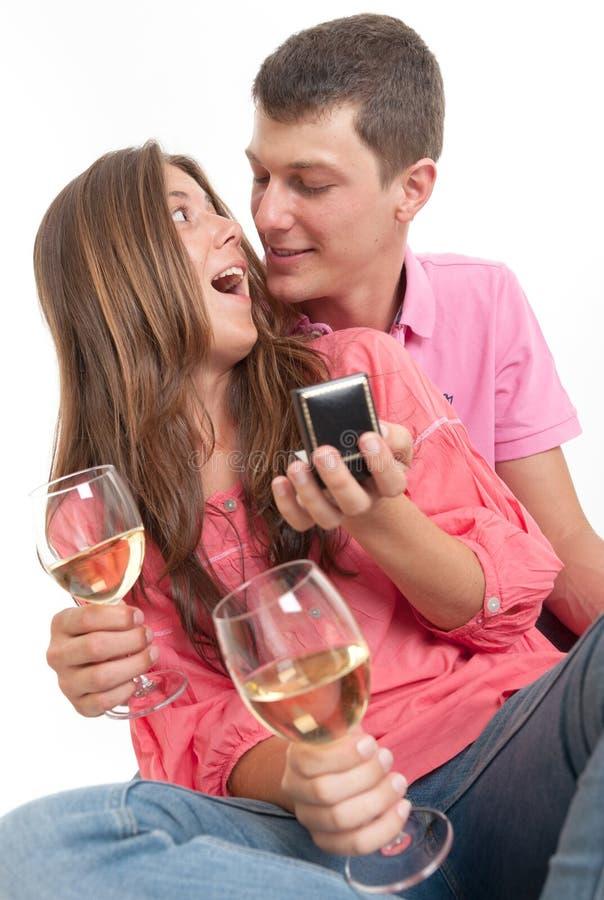 年轻订婚 图库摄影