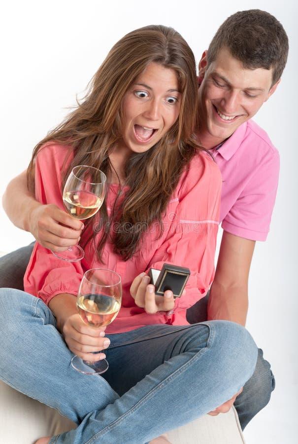 年轻订婚 免版税图库摄影