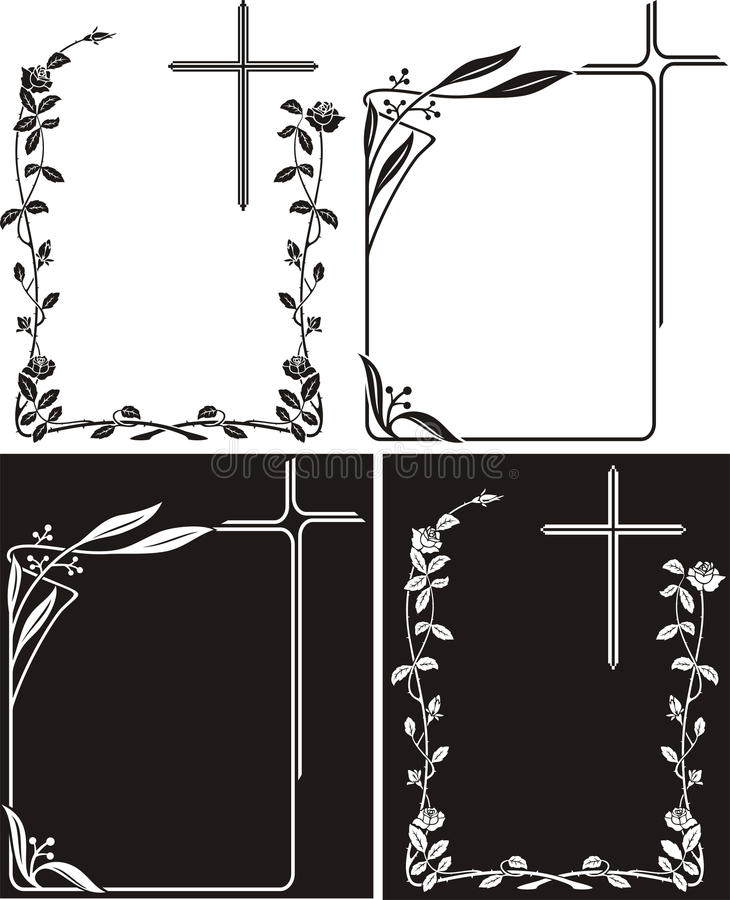 讣文或纪念匾-艺术装饰 皇族释放例证