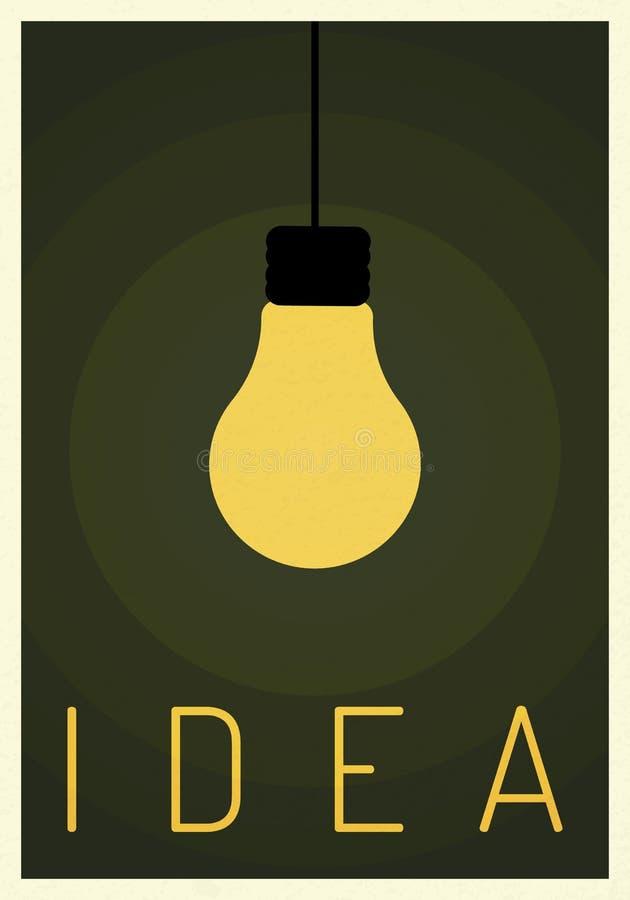 认为与电灯泡象的成功的视觉想法概念  Eps10例证,标志成长,经济,投资,技术 库存例证