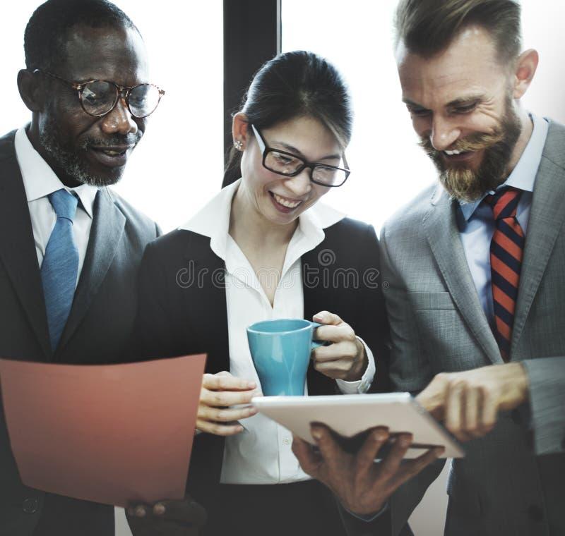 认为公司概念的企业规划战略 免版税库存照片