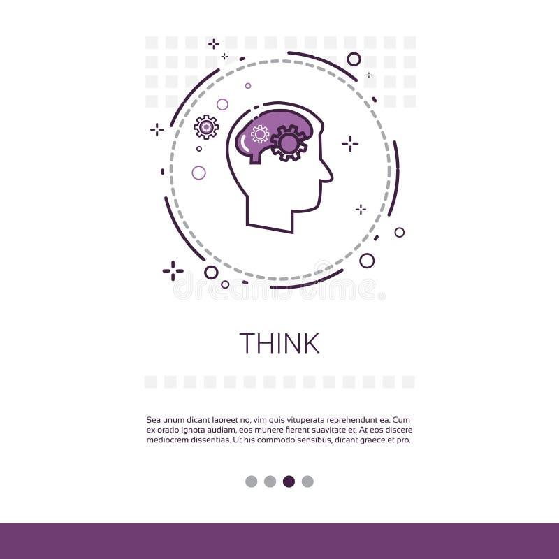 认为新的与拷贝空间的想法启发创造性的处理企业网横幅 向量例证