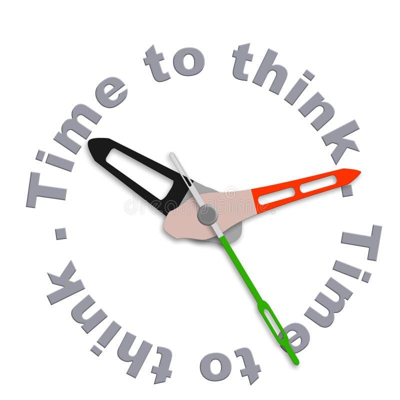 认为时间 库存例证