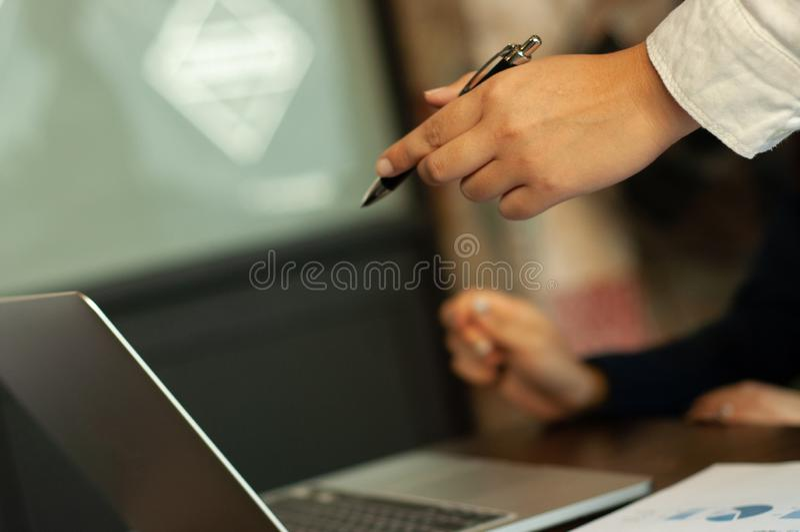 认为的企业教学 库存图片