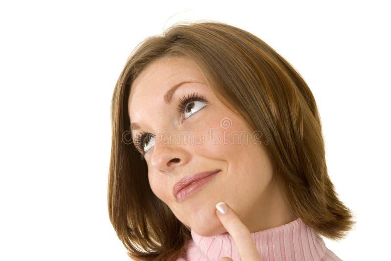 认为的妇女 免版税库存照片