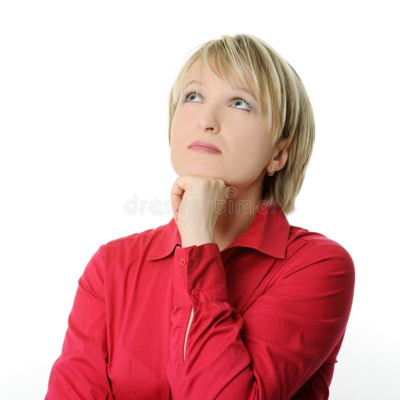 认为的妇女 免版税图库摄影