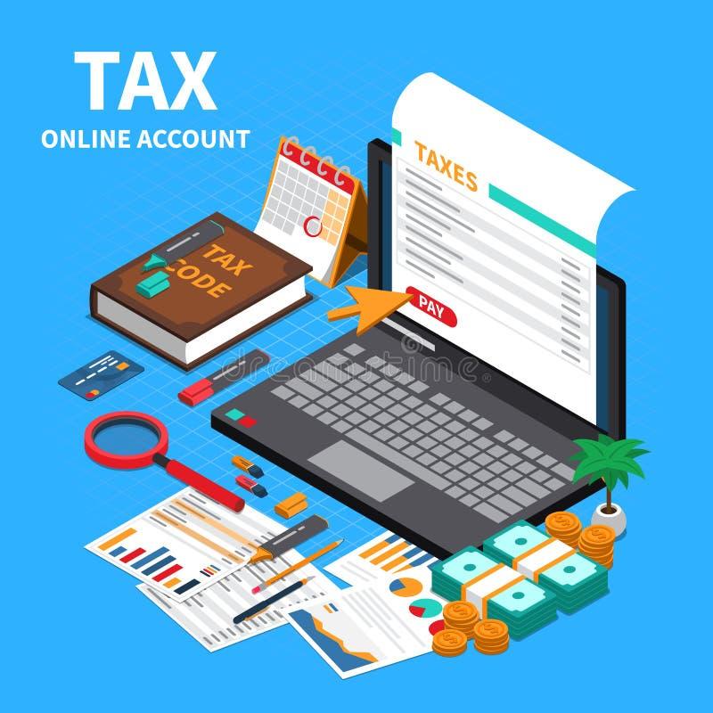 认为的税等量构成 向量例证