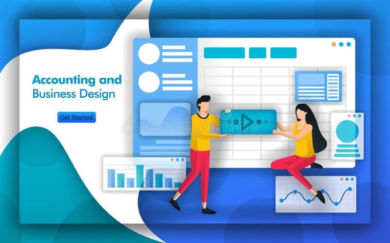 认为的顾问提供在会计和业务设计的忠告,帐户信息系统和公司税planni 皇族释放例证