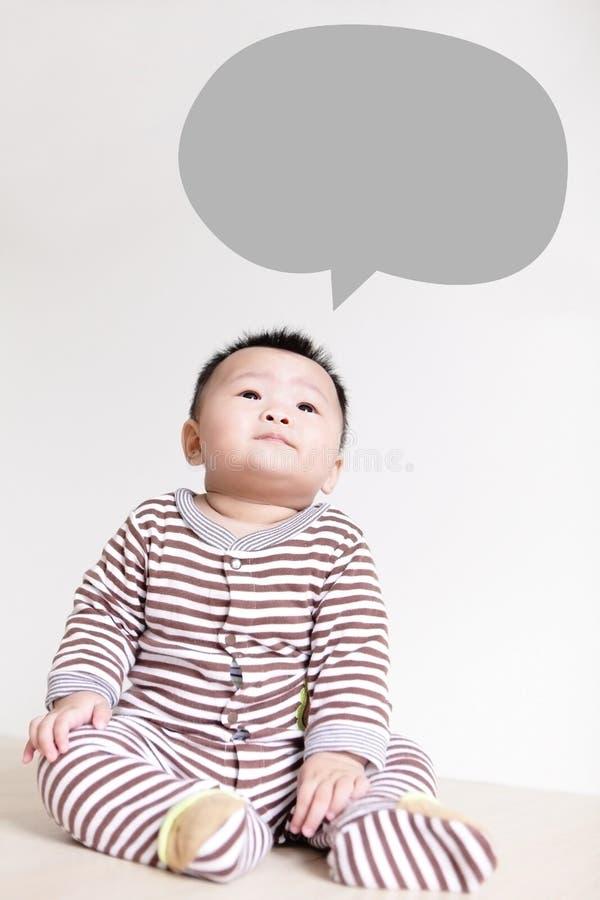 认为逗人喜爱的婴孩和今后查寻 库存图片