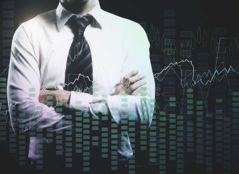认为,贸易和投资概念 库存照片