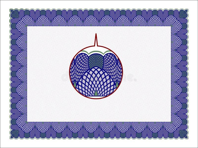 认可框架,现代, minimalis和典雅 皇族释放例证