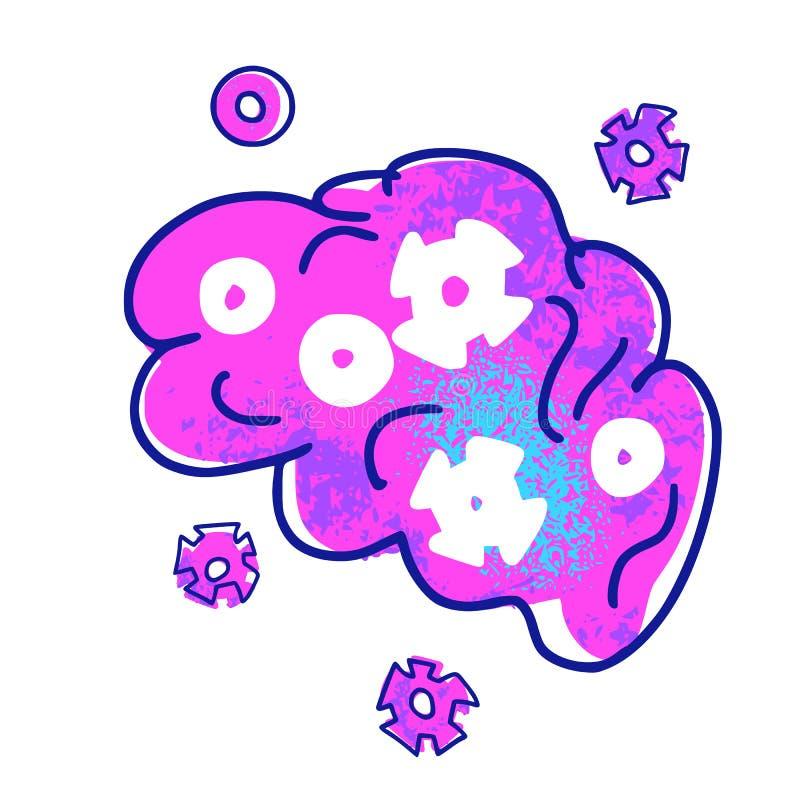 认知科学概念 设置传染媒介元素 向量例证