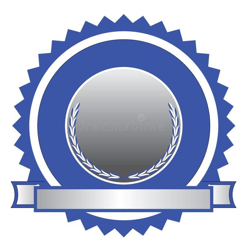 认证象征徽标 向量例证