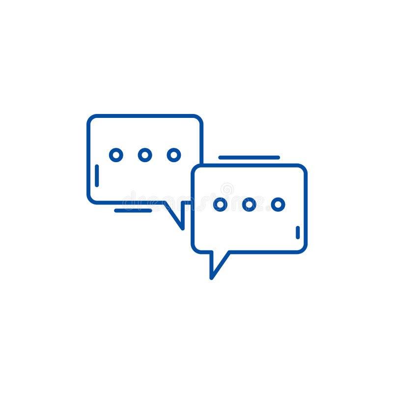 讨论会线象概念 讨论会平的传染媒介标志,标志,概述例证 向量例证
