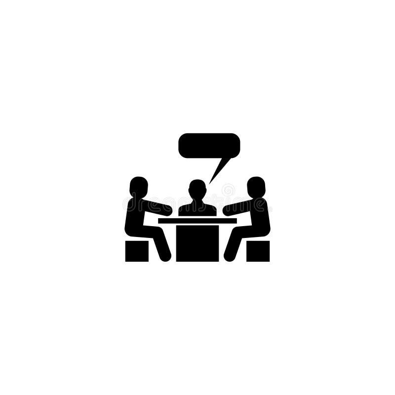 讨论会议交谈平的传染媒介象 皇族释放例证