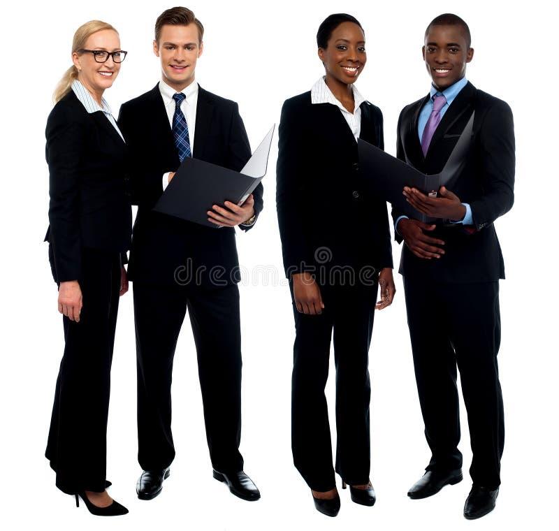 讨论成功的企业的小组运算 库存照片