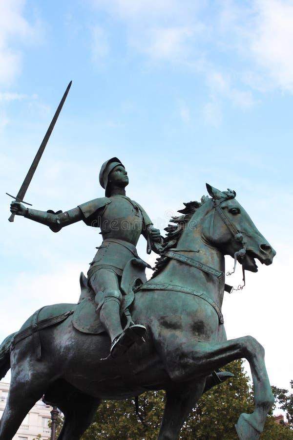 让娜d `弧 圣贞德纪念碑 法国巴黎 库存照片