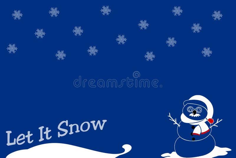 让雪 免版税图库摄影